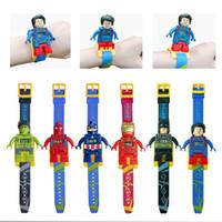 Wholesale avengers electronic resale online - Children s toy building block watch Avengers alliance children s electronic watch gift