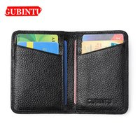 Wholesale gubintu wallets resale online - Gubintu Men Thin Wallets Genuine Leather ID Card Holder Passcard Pocket Men Purse Classic Business High Quality Wallets