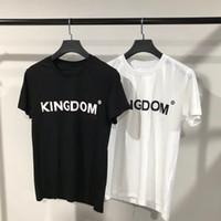Wholesale men best designer shirts for sale - Group buy 2019 Best Quality Brand Designer KINGDOM Printed Women Men T shirts tees Hiphop Streetwear Men Cotton T shirt