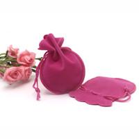 calabazas de terciopelo al por mayor-500 unids 7x9 cm Barato terciopelo La forma de calabaza bolsa para el collar earing anillo brazalete regalo joyas bolsas \ bolsa personalizar