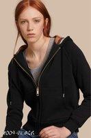 sudadera con capucha de calidad negro al por mayor-Venta caliente de Las Mujeres Diseñador de Abrigos de Invierno de Las Mujeres Marca Hoodies Sudaderas Con Capucha Caliente de Alta Calidad Señoras de la Marca Fleece Negro Azul S-XXL