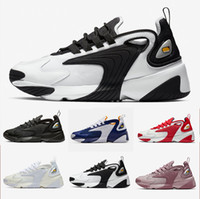 blauer zoom großhandel-Nike Triple Black Creamy White Zoom 2K M2K men running shoes Tekno Race Red Royal Blue Dark Grey for men's women sports sneaker 36-45