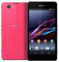 xperia z1 telefonu toptan satış-Orijinal Sony Xperia Z1 Kompakt D5503 4.3 inç Dört Çekirdekli 2 GB RAM 16 GB ROM 20.7MP Kamera WIFI 4G yenilenmiş Telefon