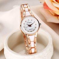женские маленькие часы оптовых-LVPAI Fashion Casual Top  Small Exquisite Stainless Steel Beautiful Simple Ladies Clock Bracelet Quartz Watches reloj mujer