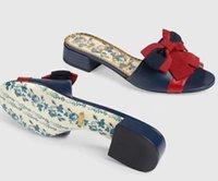 peep toes bowknot schuhe großhandel-Neue Mode Frauen Casual Hausschuhe Leder Bowknot Sandalen weibliche Peep Toe Schuhe L4111
