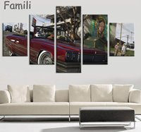 Wholesale cheap piece canvas prints landscape for sale - 5 pieces New product HD Gta Wallpaper Hd painting home decorative art painting calligraphy cheap modern paintings Grand Theft Aut