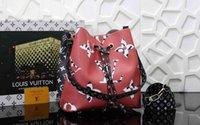 çiçek kızları için cüzdanlar toptan satış-2019 En Yeni Çanta L Harf Halat Çantalar Çiçek Desen Çanta Tide Cüzdan Bayan Moda Çanta Kız Alışveriş Çantası Yüksek Kalite