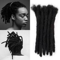 extensões de cabelo de 12 polegadas sintéticas venda por atacado-Venda quente! 5 pçs / lote 12 polegada Handmade Dreadlocks extensões de cabelo estilo hip-hop cabelo trança de trança de cultura Maya para homens