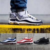 zapatos al aire libre de la nueva tendencia al por mayor-2019 new Nike Air Max 98 designer men and women shoes cushioning air cushion running shoes high quality with logo