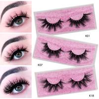 Wholesale thick human hair resale online - cruelty free d d d siberian mink fur eyelashes mm mm mm mm mm long mink eyelashes with storage lashes box
