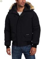chaqueta de invierno abajo hombres de canadá al por mayor-Chaqueta para hombre del diseño de invierno Marca Canadá Hombres ganso chaqueta con capucha de la cremallera camuflaje capa de la manga completa Invierno Abajo Abrigo Sport Tops HQ