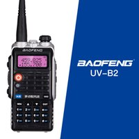ingrosso talkie walkie baofeng uv 8w-Più recente BaoFeng UV-B2 Plus 8W ad alta potenza FM 4800 mah batteria Baofeng Bf-Uvb2 Uvb2 Plus per cb radio mobile walkie-talkie