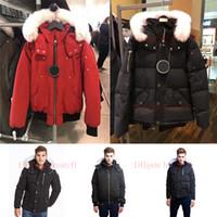 Weiß Pelz Winterjacke Mann Windjacke Kleidung der Männer 2019 Luxus Designer Jacken Gans Daunenjacke Bomber Nord Parka Trench Coats Doudoune