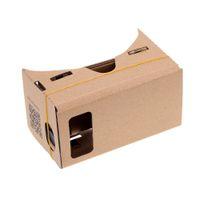 google cardboard iphone оптовых-DIY Google Vr картон 3d стекло Google картон 3d очки очки виртуальной реальности для Iphone 6 Z