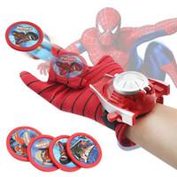 guantes de araña al por mayor-Spiderman Glove Kids Toys traje de cosplay de Spider Man