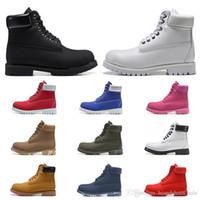 moda homens tornozelo botas branco venda por atacado-2020 ankle boots homens mulheres de luxo designer triplo trigo branco preto azul marinho mens moda inicialização martin outddoor sapatos de corrida curta