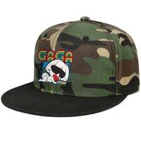 ingrosso signore montato cappelli-Fitted Uomo Donna camouflage Trucker cap Divertente Cartoon Lady Gaga flat Brim Hip Hop Snapbacks cappello One Size uomo cappelli