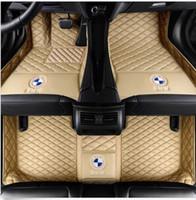 fußmatten bmw großhandel-Für BMW X5 G05 F15 E70 E53 2004 - 2019 Auto-Fußmatten WaterPrLuxury Custom wasserdicht rutschfeste Teppiche Ungiftige und geruchlose Fußmatte