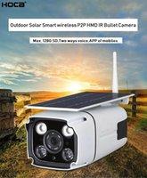 kamera sd ir ip toptan satış-2Mp 1920x1080 p Açık su geçirmez Kablosuz Güneş enerjili HMD kamera iki yolu ses WIFI IP IR bullet kamera ile SD yuvası ve cep 'ın APP