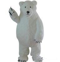 trajes de mascote de urso para venda venda por atacado-2019 venda direta da Fábrica Custom Made Branco Urso Polar Mascot Costume Mascote Urso Branco Personalizado