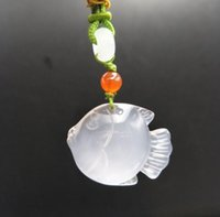 Wholesale shipping goldfish for sale - Group buy Direct sale of natural chalcedony high goldfish agate pendant seed gold and jade all over the hall ch