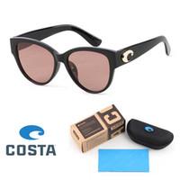 Wholesale sports sunglasses resale online - Brand Designer Costa Sunglasses Women Vintage polarized Sunglases Black Shades Retro Cateye lunette de soleil femme oculos with Retail box