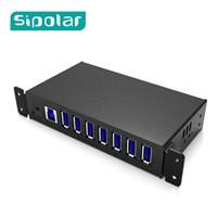 hub 12v al por mayor-Concentrador de carga Portátil HUB del cargador USB de 7 puertos con adaptador de corriente de 12V 3A