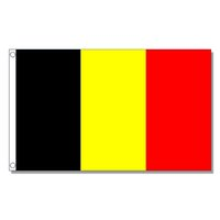 Wholesale flag belgium for sale - Group buy Belgium National Flag x5 FT X90CM D Polyester Banner Brass Grommets For Decoration Hanging Advertising