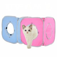 Wholesale travel products accessories resale online - Folding Non woven Pets Cat Tent Houses Pet Beds Outdoor Camping Travel Home Puppy Dog Kennel Cage Cat Toy Pet Product