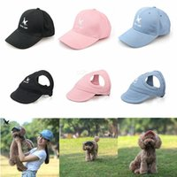 Wholesale baseball caps letter s resale online - Letter Dog Hats S XL Parent Child Hat set Spring Summer Style Cute Pet Hat Outdoor Dog Baseball Cap Apparel Accessories AAA2266