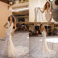 Wholesale short sleeve wedding dress size 16 online - 2019 Illusion Cap Sleeves Lace Mermaid Wedding Dresses Applique Beaded Backless Sweep Train Plus Size Wedding Bridal Gowns
