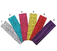 Wholesale leopard cosplay sexy online - Bohemian leopard bandanas headband Western sexy woman grils party cosplay hair bands cotton sweatband Fitness Supplies accessaries