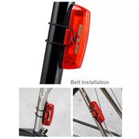 ingrosso usb della coda della bici-Spedizione gratuita GUB Resistente USB impermeabile Ricaricabile MTB bici Freno della bicicletta Reggisella Coda LED Light Cycling Equipment fietsverlichting
