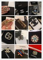 çeşitli aksesuarlar toptan satış-Tasarımcı Broş 2019 Yeni Marka Broş Çeşitli Stilleri Seçin Moda Aksesuarları ücretsiz kargo 0501
