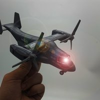 Wholesale model aircraft lights for sale - Group buy MLQ Diecast Alloy Boeing Bell V Osprey Transport Aircraft Model Toy Sound Lights Pull back Ornament Christmas Kid Boy Gift