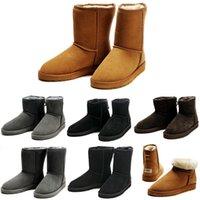 zapatos schneestiefel groihandel-BOOTS Winter Australia Classic Schnee Stiefel gute Mode WGG hohe Stiefel aus echtem Leder Bailey Bowknot Frauen Bailey Bow Knie Stiefel Herren Schuh