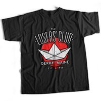 clube de cinema venda por atacado-Ele Losers Stephen King Pennywise Christine Film Club T shirt camisa do orgulho t casual homens fresco preto frete grátis