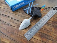 Wholesale cold steel mini urban pal resale online - Promotion Cold steel mini URBAN PAL LS Pocket knife steel serrated fixed blade camping hiking gear rescue Tactical knif