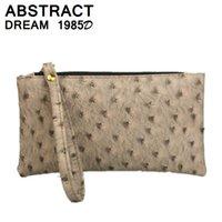 1260cf2cf bolso de la mujer nuevo 2019 Clásico bolsos de embrague diseñador avestruz  patrón Envelope Bolso cartera monedero de las señoras de cuero bolsos  casuales # ...