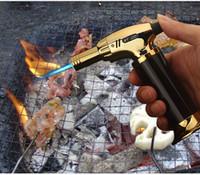 fackel butan zigarette zigarettenanzünder großhandel-Neue Ankunft Taschenlampe Turbo Feuerzeug Neue Spritzpistole Jet Butan Zigarettenanzünder Gas Zigarette 1300 C Winddicht Leichter Kein Gas