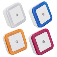mini sensor de luz al por mayor-Control de Sensor de luz Luz Nocturna Mini UE EE. UU. Enchufe de La Novedad Dormitorio cuadrado lámpara Para Regalo Del Bebé Romántico Luces de Colores