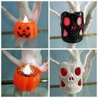 ingrosso generi luci principali-New Creative Two Kinds Skull Light Bar KTV Decorare plastica LED Spider Web Piccole luci notturne Forniture per feste e festival 1 9cy