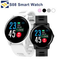 telefones ip68 venda por atacado-S08 para apple smart watch ip68 monitor de freqüência cardíaca à prova d 'água smartwatch bluetooth smartwatch atividade rastreador de fitness banda