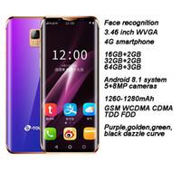 touch mp3 spieler groihandel-Magische Farbe Mini-Handy 4G LTE-Smartphone Android 8.1 Handy 3g + 64GB Dual-SIM-Smartphone Handy für Mädchen Studenten Geschäftsmann