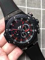 reloj multifunción de negocios al por mayor-nuevo creativo moda cuarzo segundos segundos hombres reloj cuero cronógrafo negocio multifunción deportes reloj hombres horas. Regalo de hombre