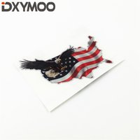Wholesale wing car body sticker for sale - Group buy Funny Flying Eagle Wings Car Body Sticker National Flag US Power Animal Motorbike Decals cm
