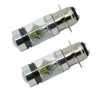 phares cree haute puissance achat en gros de-2pcs P15D / H6M 100W CREE phare haute puissance LED ampoules D tête lumière ampoule 12-24v moto voitures électriques phare 1000LM 6500K