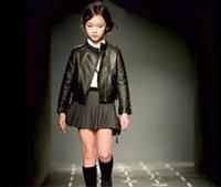 pu jacken für kinder großhandel-Frühling Kinderkleidung PU Kleidung Mädchen Jackenmantel Kleidung Kinder Jacke, Mädchen, Jungen Reißverschluss Kleidungsmantel Kleidung