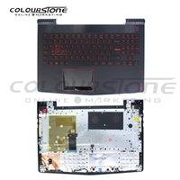 griechische tastatur großhandel-Y520 US-Laptop-Tastatur für Lenovo mit beleuchteter Topcase-Notebook-Tastatur mit Handballenauflage