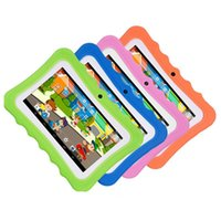 Wholesale 7 inch children tablet Android Allwinner A33 google player wifi big speaker protective cover